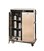 "FWE E-960-XL 120 E-Series Banquet Cart, 2-Door, 96-Plate Cap., 12.375"" Max, Stainless, 120V"