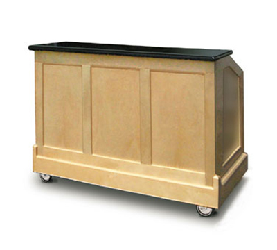 FWE - Food Warming Equipment ES-CB-5-BW Executive Series Portable Bar, 60-in L, 60lb Cap. Ice Bin, Glass Storage.