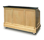 "FWE ES-CB-6-BW Executive Series Portable Bar, 72"" L, 60lb Cap. Ice Bin, Glass Storage."