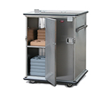 FWE ETC-1314-64 Mobile Prisoner Tray Cabinet, 2-Door, 64 Tray Capacity, Full Bumper, Stainless.