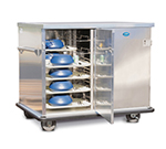 FWE ETC-1520-24 Patient Tray Cart, 2-Door, 24 Tray Capacity, Full Bumper, Stainless.