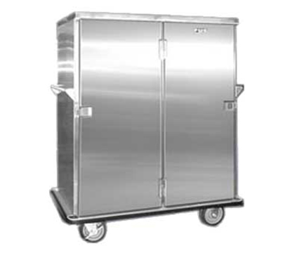 FWE ETC-1520-32 Patient Tray Cart, 2-Door, 32 Tray Capacity, Full Bumper, Stainless.