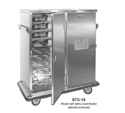 Fwe - Food Warming Equipment ETC-16 Patient Tray Cart, 2-Door, 16 Tray Capacity, Full Bumper, Stainless.