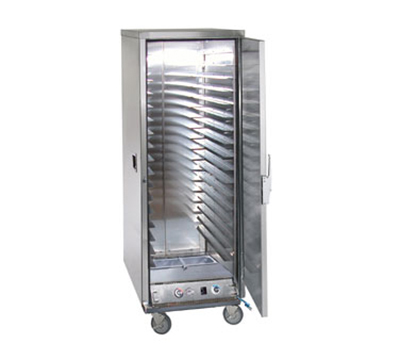 FWE ETC-1826-17PH Full Height Heated Holding & Proofing Cabinet, Solid Door, Fixed Wire Slide