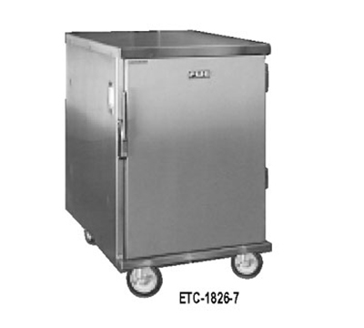 "FWE ETC-1826-11 Enclosed Transport Cabinet, 1-Door, 11 Slides for 18 x 26"" Trays, Stainless."