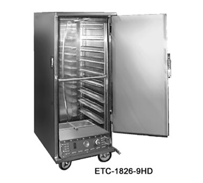 FWE ETC-1826-14PH Full Height Heated Holding & Proofing Cabinet, Solid Door, Fixed Wire Slide