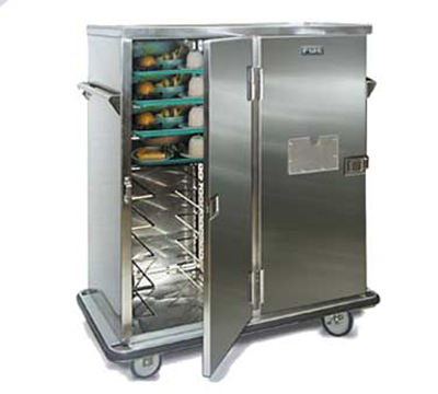 Fwe - Food Warming Equipment ETC-18 Patient Tray Cart, 3-Door, 18 Tray Capacity, Full Bumper, Stainless.