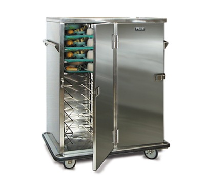 FWE - Food Warming Equipment ETC-20 Patient Tray Cart, 2-Door, 20 Tray Capacity, Full Bumper, Stainless.
