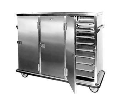 FWE ETC-24 Patient Tray Cart, 3-Door, 24 Tray Capacity, Full Bumper, Stainless.