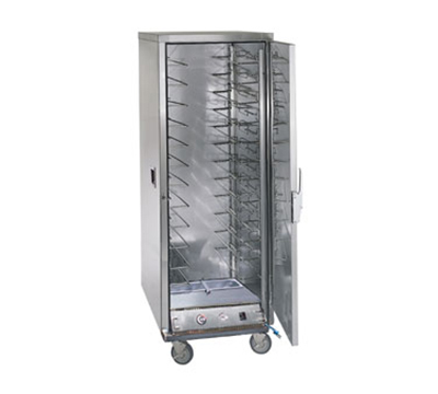 FWE ETC-UA-12HD Heated Transport Cabinet, Full Height, 12-Tray Slides, Stainless, 120v