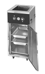 FWE HLC-1W6-7H-7-DRN 120 Handy Line Serving Cabinet w/ 1-Well in Top, Mobile, 7-Pan Capacity, 120V