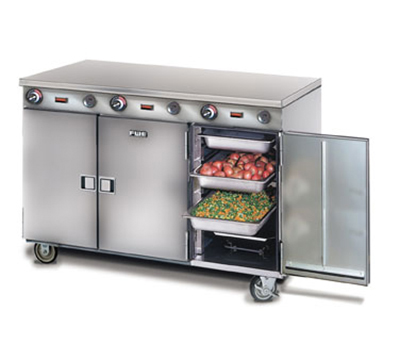 FWE HLC-8H-24 120 Handy Line Heated Cabinet w/ 3-Comp., Mobile, Half Height, 8-Pan Racks, 120V