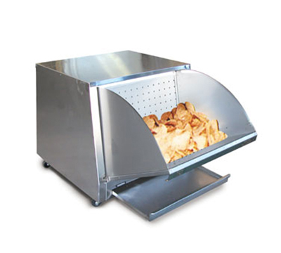 FWE HMC-230 120 Chip Warmer w/ Perforated Feeder Panels, Drop Down Hopper, Stainless, 120V