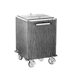 FWE IC-200 793838 Mobile Ice Bin w/ 200lb Capacity, Insulated, Stainless, New Age Oak