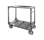 FWE ITT-72-104 Institutional Tray Transport Cart w/ 3-Straps, Stainless