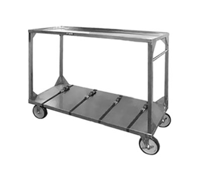 FWE ITT-96-132 Institutional Tray Transport Cart w/ 4-Straps, Stainless