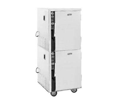 FWE MT-1220-6-6220 Mobile Heated Cabinet w/ 2-Doors, Split Cavity, Stainless, 220/1V