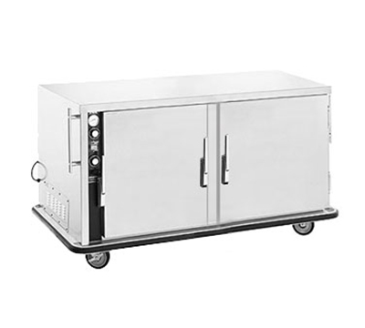 FWE MT-1826-14 120 Mobile Heated Cabinet w/ 2-Doors, 10-Pair Rod Slides, Stainless, 120V