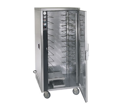FWE - Food Warming Equipment MT-1826-15220 Mobile Heated Cabinet w/ 1-Door, 10-Pair Rod Slides, Stainless, 220/1V