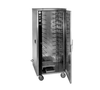FWE MT-1826-18 120 Mobile Heated Cabinet w/ 1-Door, 12-Pair Rod Slides, Stainless, 120V