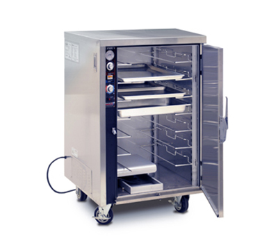 FWE MTU-7 120 Mobile Heated Cabinet w/ Split Cavity, 7-Pair Rod Slides, Stainless, 120V