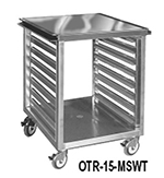 FWE OTR-15-MS Mobile Machine Stand w/ Open Base, 15-Pan Slides & 300-500lb Wt. Capacity