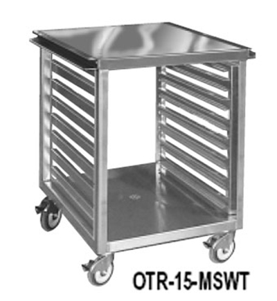 "FWE OTR-17-MS 21.5"" Mixer Table w/ All Stainless Pan Slide Base, Mobile, 26.5""D"