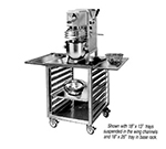 "FWE OTR-17-MSWT 25.5"" Mixer Table w/ All Stainless Pan Slide Base, Mobile, 26.5""D"