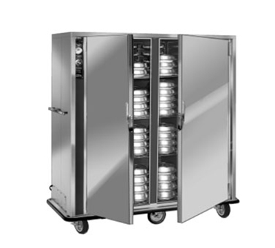 Fwe - Food Warming Equipment P-120-2220 P-Series Banquet Cart w/ 2-Doors, 96/120-11in Round Plate Capacity, 220/1V