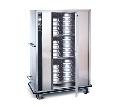 FWE P-144 P-Series Banquet Cart w/ 1-Door, 120/144-11in Round Plate Capacity, Stainless
