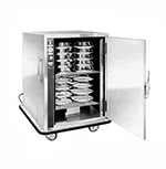FWE P-48-XL 120 48-Plate Heated Meal Delivery Cart, 120v