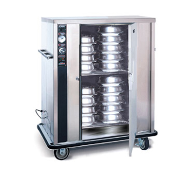 FWE P-72-XL 120 72-Plate Heated Meal Delivery Cart, 120v