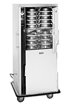 FWE P-80-XL 120 80-Plate Heated Meal Delivery Cart, 120v