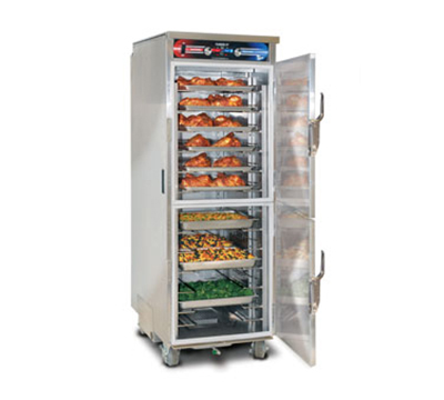 FWE PHTT-12 120 Clymate Heated Cabinet, 12 Univ. Tray Slides, Mobile, Insulated, Stainless, 120V