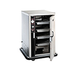 FWE - Food Warming Equipment PS-1220-6-6 120 Mobile Heated Cabinet w/ Split Cavity, 4/Each-Pan Capacity, Stainless, 120V