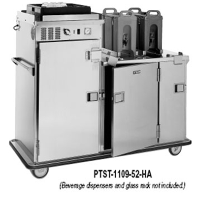 FWE PTST-1410-26HA 120 120-Plate Heated Meal Delivery Cart, 120v