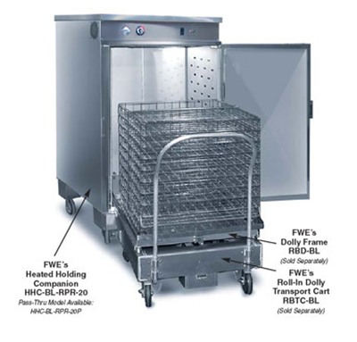 Fwe - Food Warming Equipment RBR-20 Rack Frame, Holds for 20-13.5in x 26in Baskets, Stainless