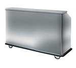 FWE SBBC-66 Mobile Bar w/ 60LB Capacity Ice Bin, 75-in L, Full-Bumper, Stainless