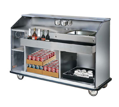 "FWE SCB-6 Mobile Bar w/ Shut-Off Drain, Convectional Beverage Service , 72"" L, Stainless"