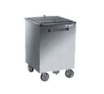 FWE SIC-200 Mobile All-Weather Ice Bin, 200lb Capacity, Insulated, Stainless