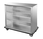 FWE SPSC-88 Back Bar, 28.5x45.5x98in L, Full-Bumper, Welded Steel Frame, Stainless Interior.