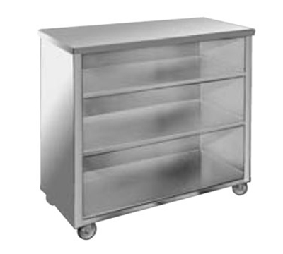 "FWE SPSC-4 Back Bar,26.5x45.5x48"" L, Welded Steel Frame, Stainless Interior."