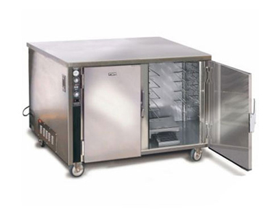 FWE TS-1826-14 120 Heated Cabinet w/ Heavy Duty Push Bars, Mobile,2-Section, Insulated, 120V