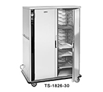 FWE TS-1826-30 120 Mobile Heated Cabinet w/ 2-Sections, 20-Pair Univer. Tray Slides, Stainless, 120V