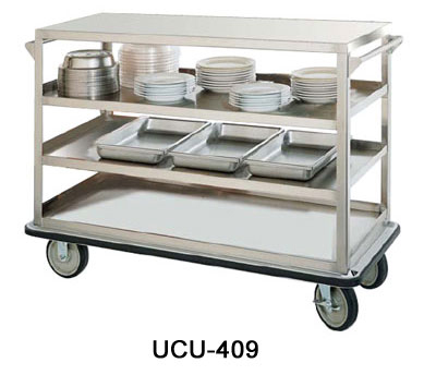"FWE UCU-412 Queen Mary Utility Cart w/ 4-Shelves, 12"" Apart, 1600lb Capacity, Stainless"