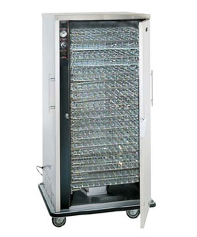 FWE UHS-24-B 120 Mobile Heated Basket-Bulk Food Cabinet w/ 1-Door, Full Height, Stainless, 120V