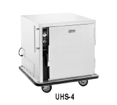FWE UHS-4 120 Mobile Heated Cabinet w/ 4-Pair Univer. Slides, Half-Height, Stainless, 120V