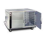 FWE UHS-5-10 120 Mobile Heated Cabinet w/ 2-Doors, 10-Pair Univer. Slides, Half-Height, 120V
