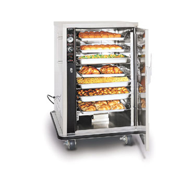 FWE UHS-7 120 Mobile Heated Cabinet w/ 1-Door, 7-Pair Univer. Slides, Half-Height, 120V