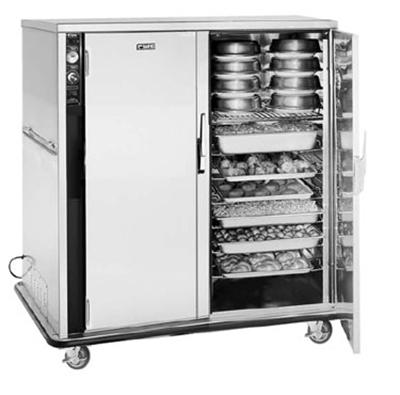 FWE UHS-BQ-120-XL 120 Mobile Bulk-Food Banquet Server w/ 18-Pair Univer. Slides & 6-Shelves, 120V